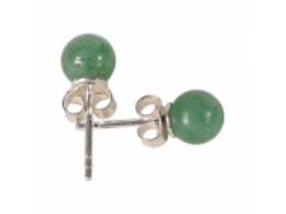 Aventuriin - roheline - kõrvarõngad - hõbe 925 - VIIMANE